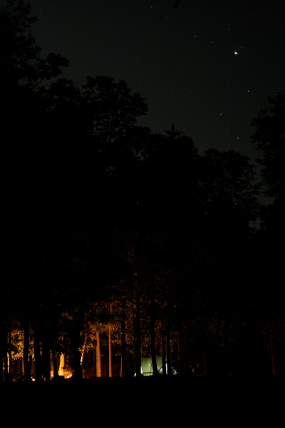Raystown Lake Campsite Starry night