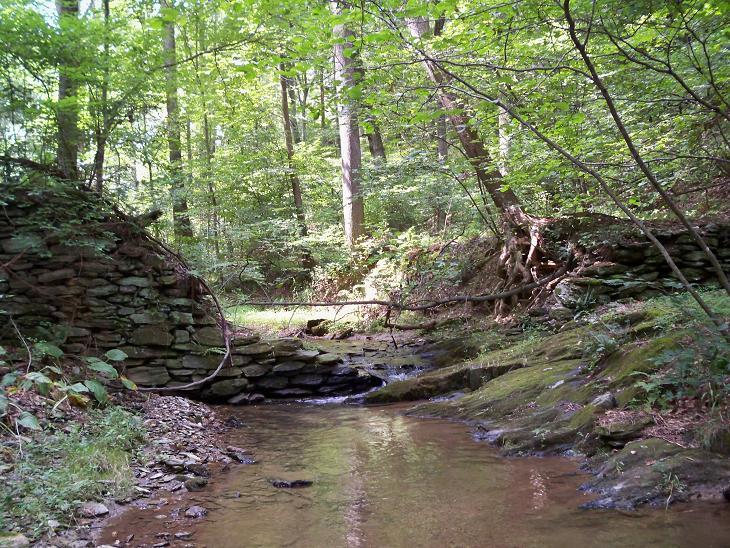 Old stone dam