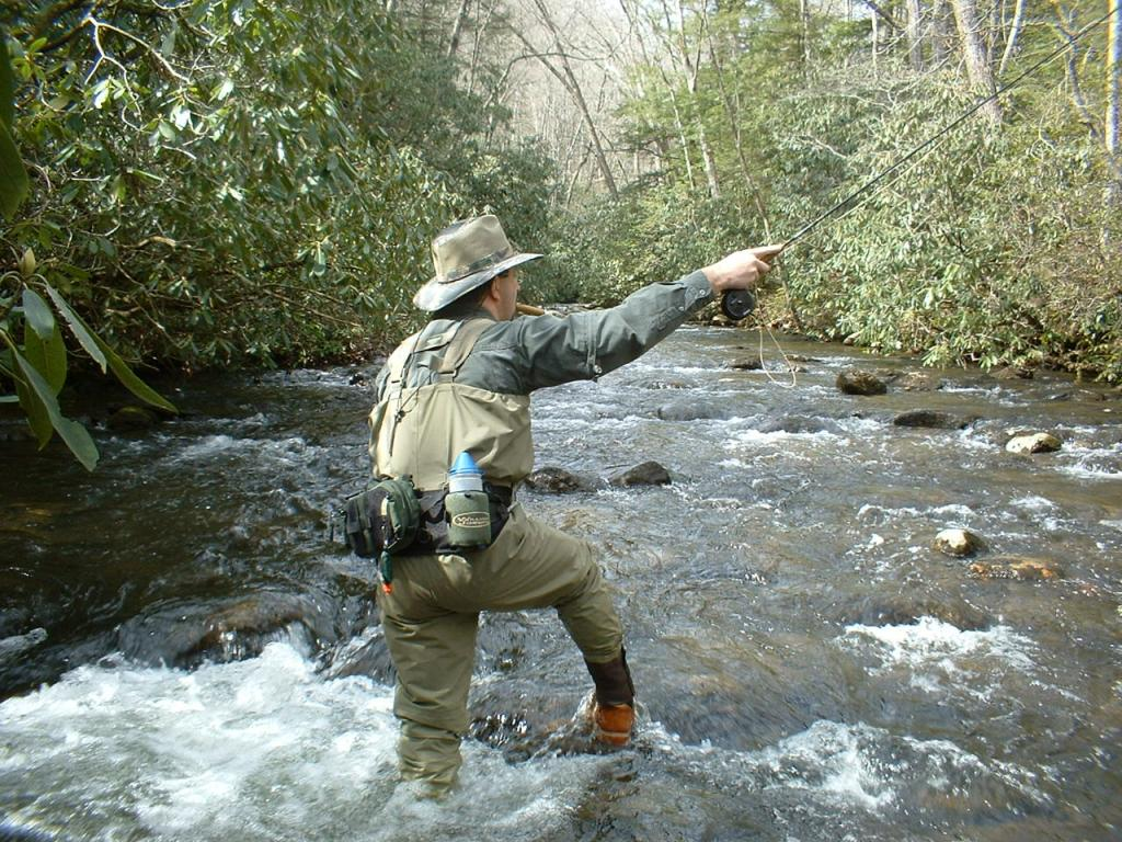 Me fishing Courthouse Creek in WNC.