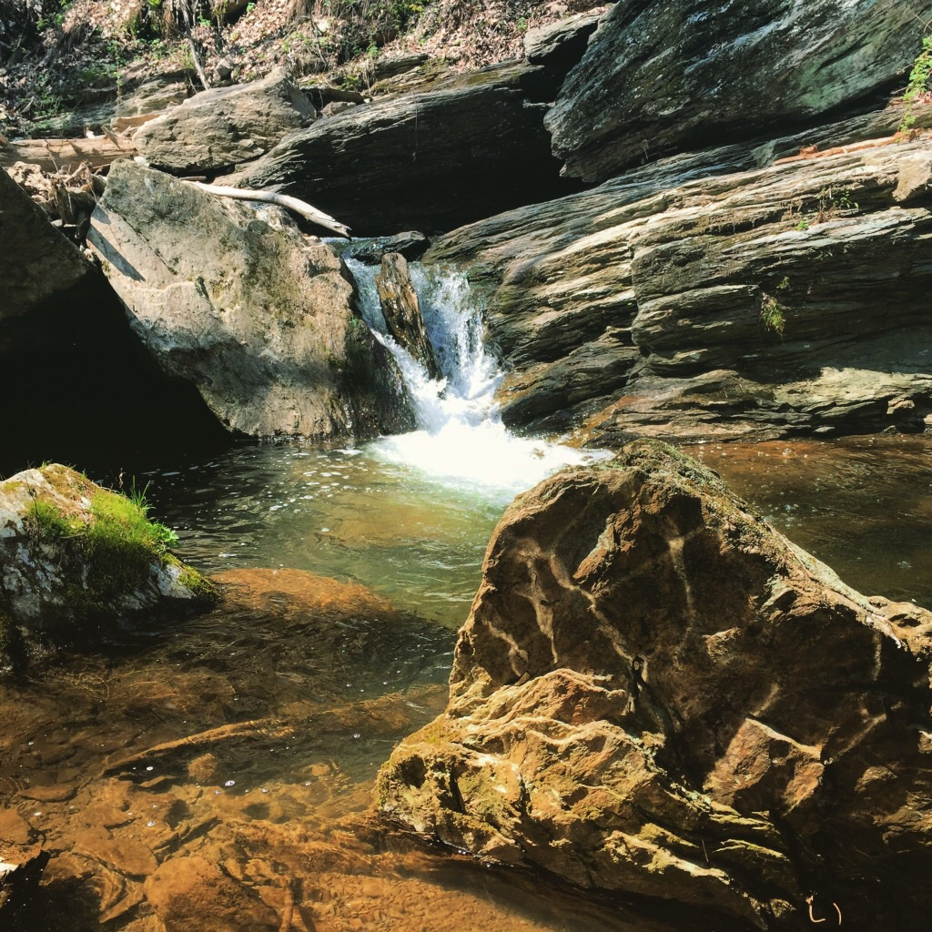 Hidden waterfall in York county