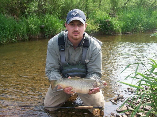 Brandon With Brook Trout