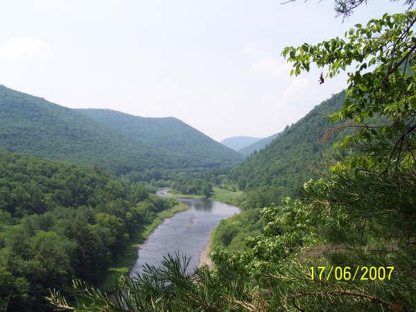 pine creek towards browns run