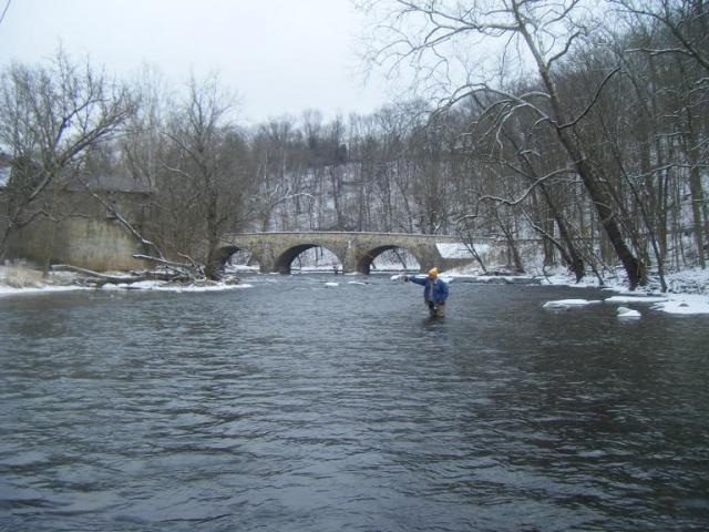 Nice Winter Fly Fishing Scene