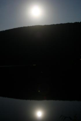 Raystown Ray under the moonlight