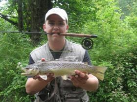 Big Brown on Fly Rod